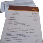 Briefbogen mit Texteindruck