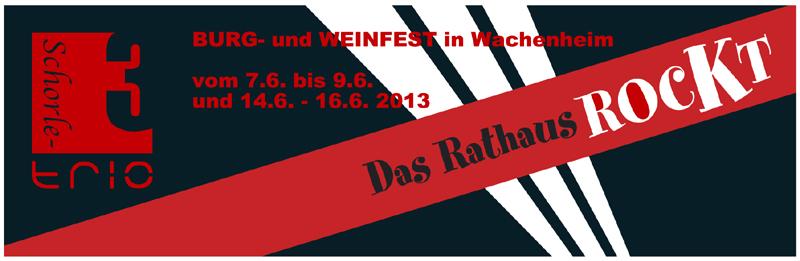 Werbeanzeige Burg- und Weinfest WACHENHEIM