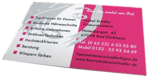 Visitenkarten Für Friseure Pfalz