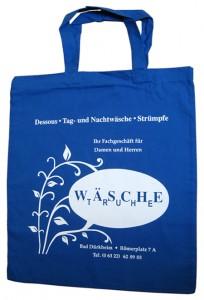 Stofftasche mit Logo Aufdruck aus Baumwolle